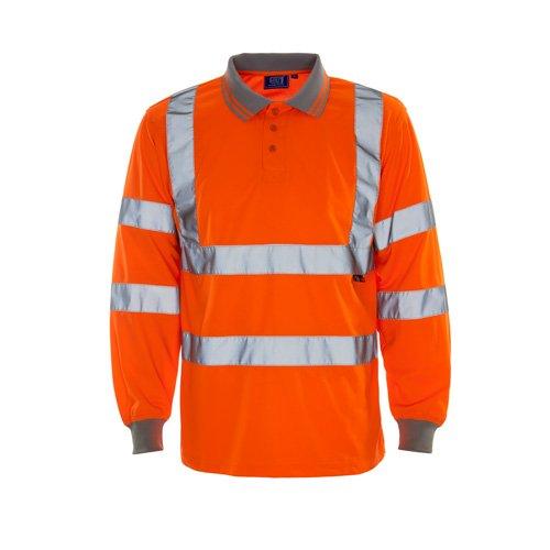 XL Orange SuperTouch 35e84//à manches longues haute visibilit/é Polo