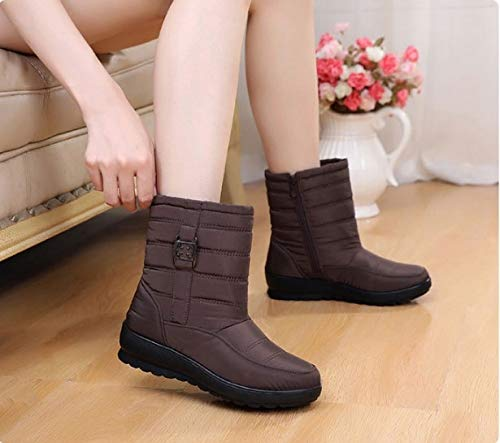 FMWLST Stiefel Frauen Stiefel Winter Warm Wasserdicht Mutter Schuhe Damen Damen Damen Stiefeletten Schnee Stiefel Damen Wasserdicht Damenschuhe  d06a63