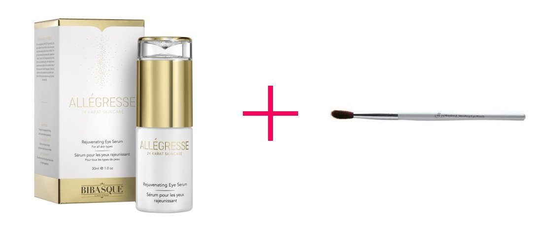 2 of Allegresse 24K Gold Rejuvenating Eye Serum AND e.l.f. professional Blending Eye Brush - BUNDLE
