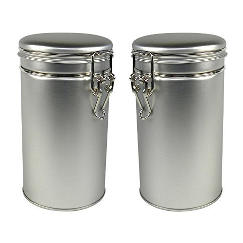 - Thistle Moon Steel Loose Leaf Tea and Spice Tin Round with Latch Cover - Set of 2