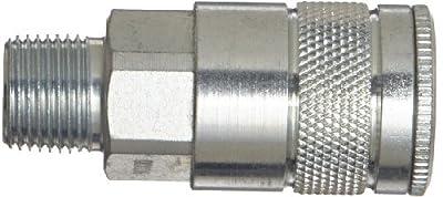 """Dixon Valve DC5 Steel Air Chief Automotive Interchange Quick-Connect Air Hose Socket, 3/8"""" Coupler x 3/8"""" NPT Male Thread, 70 CFM Flow Rating"""