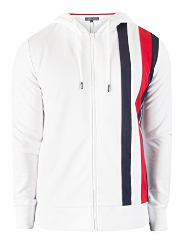 Tommy Hilfiger Men's Sporty Tech Zip Jacket, White, Small by Tommy Hilfiger (Image #8)