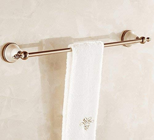 Xixuanstore Jewel of Whole Copper Rose Single Lever Towel Rack Towel Bar Solid Brass Towel Towel Bar Orders Hardware (Color : 63cm)