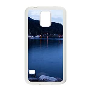 Blue Lake Ships White Phone Case for Samsung Galaxy s5