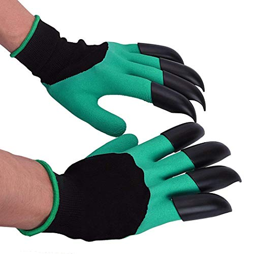 comfi1 Unisex Garden Gloves with Fingertips Claws Digging Planting Gloves Gloves