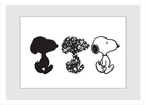 "Price comparison product image Peanuts PE-SLRA-02-FP-30 ""Snoopy"" Framed Painting Print, 30"" x 20"""