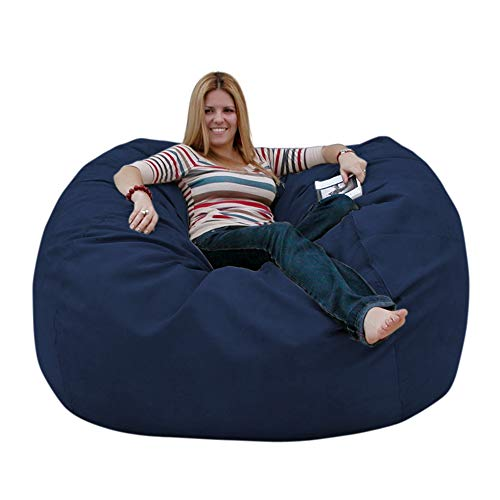 Cozy Sack 5-Feet Bean Bag Chair, Large, Navy