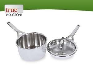 True inducci n acero inoxidable 5 capas clad se puede for Utensilios de cocina gourmet