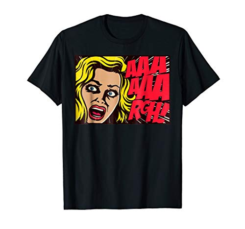 Horror Screaming Girl Halloween Pop Art Style -