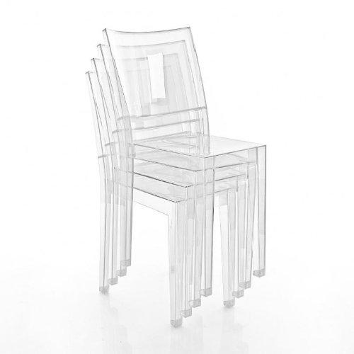 Kartell La Marie Stuhl 4er Set, glasklar transparent 4 Stück