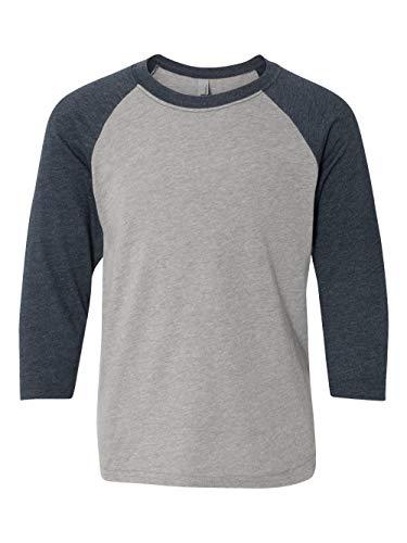 Price comparison product image Next Level Big Boy's 3 / 4-Sleeve Rib-Knit T-Shirt_XL_Midnight Nvy / Dark Hthr Gry
