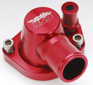 CSR Performance Products 9111R Red Swivel Thermostat Housing for Small Block Ford by CSR Performance Products