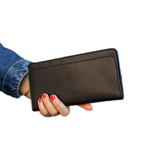 Soft Genuine Leather Women's Slim Wallets Luxury Ladies Cowhide Wallet And Purse Female Card Holder by WUDEF