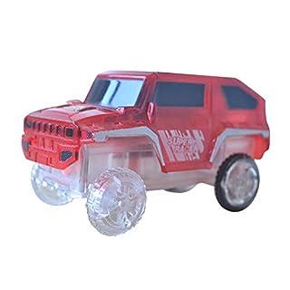 XuBa Glowing Racing Set per Bambini con luci a LED Auto Electronics Auto, macchinine con luci Lampeggianti Fai da Te Giocattolo per Kid Drop Shipping Red
