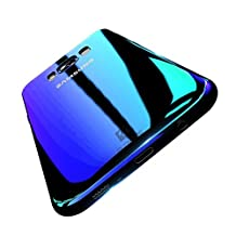 Samsung S8 Plus Case, FLOVEME Ultra Thin Electroplating Gradual Colorful Gradient Change Color Slim Fit Hard Back Bumper Cover for Samsung Galaxy S8 Plus - Transparent Blue