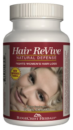 Ridgecrest Herbals Hair Revive Natural Defense - 120 Capsules, 2 pack (image may vary) by Ridgecrest Herbals