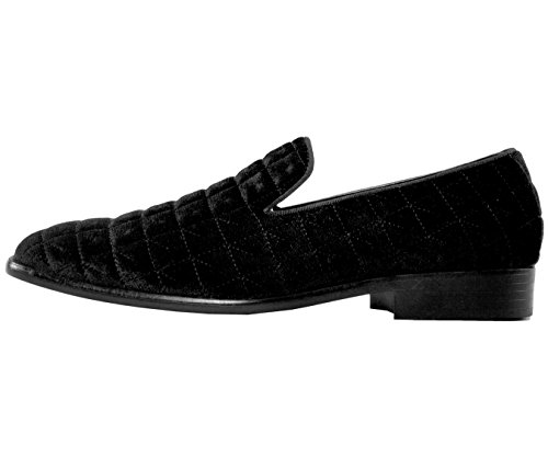 Amali Men's Velvet Smoking Slipper Dress Shoe Slip On Loafer Black/Quilted cheap professional footlocker pictures online outlet cost pre order cheap online jLajBY