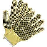 Memphis 9363S Small Yellow Kevlar 7 Gauge Knit Wrist Cut Resistant Gloves PVC Dots