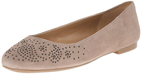 Nine West WomenS Gemma Suede Ballet Flat, Light Natural, 41.5 EU/8.5 UK