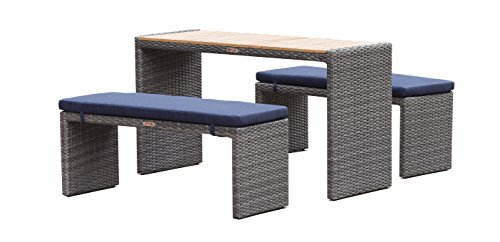 Light Colored Wicker Outdoor Furniture - 4