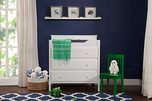 Jayden 3 Drawer Changer Dresser in White (3 Small Dresser Drawers)