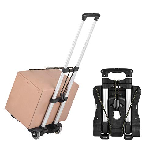 Xcellent Global Folding Luggage Cart, Compact Lightweight and Durable Travel Trolley 40kg/88lbs Load Capacity for Luggage, Personal,Travel, Moving and Office Use (#3)