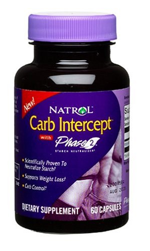 Natrol Carb Intercept with Phase 2 Starch Neutralizer, 60 Capsules (Pack of 2) by Natrol