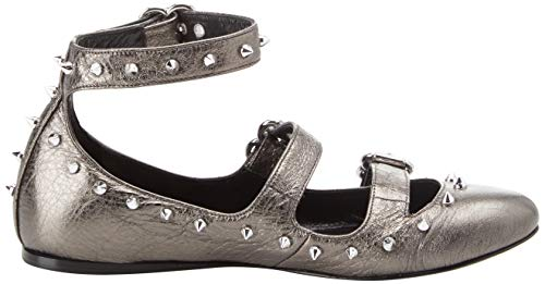 Grigio Women's Ankle Ca8tbc Set Strap Fucile canna Twin Ballet 00351 Flats fq50FOw
