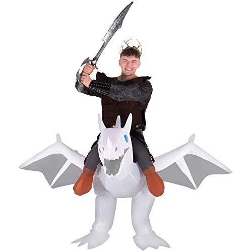 Alien Walker Halloween Costume (Morph Inflatable Costume, White Dragon Adult, One)