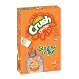 10-Orange Crush Sugar Free Singles to go 6 packets New just add to water bottle