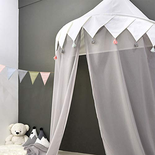 Bed Canopy for Girls Bed, Kids Children Mosqutio Net Bedding Decor Princess Nusery Play Reading Room Chiffon Hanging Tent Indoor Decorations -
