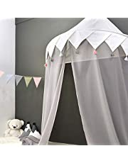 Toddler Bed Canopy for Baby Room, Kids Children Mosqutio Net Bedding Decor Princess Nusery Play Reading Room Chiffon Hanging Tent Indoor Decorations