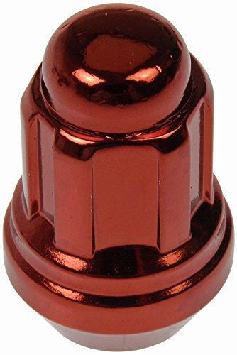 Dorman 711-335E Pack of 16 Red Wheel Nuts and 4 Lock Nuts wi