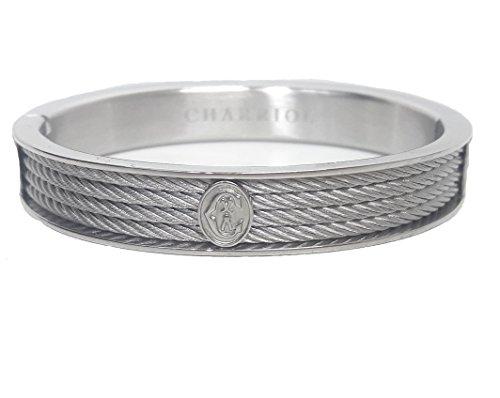 CHARRIOL Forever Steel Bangle 04-101-1139-6. Size: Medium