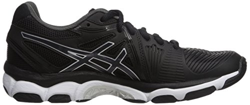 ASICS Women's Gel-Netburner Ballistic Volleyball Shoe, Black/Dark Grey/White, 9 Medium US by ASICS (Image #7)