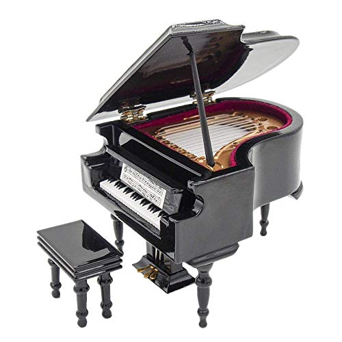 Odoria 1:12 Black Grand Piano with Stool Musical Instrument, used for sale  Delivered anywhere in USA