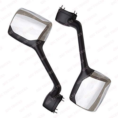 QSC Chrome Hood Mirror Pair for Kenworth T680 Peterbilt 579 LH - Peterbilt Hood