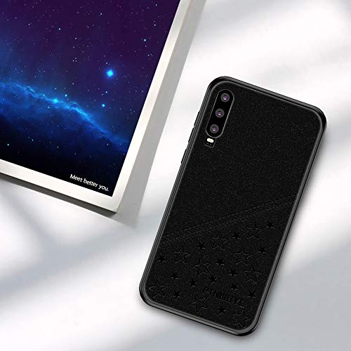 Jiangym Mobile Phone Hard Cases Full Coverage Waterproof Shockproof PC+TPU+PU Case for Huawei P30 (Black) Hard Cases (Color : Black)