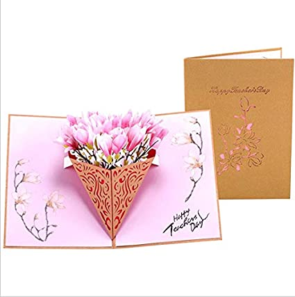 Flower Bouquet Pop Up Card3D Greeting CardHappy Birthday CardGift Card