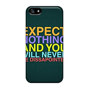Ultra Slim Fit Hard Robearke Case Cover Specially Made For Iphone 5/5s- Life Proverb