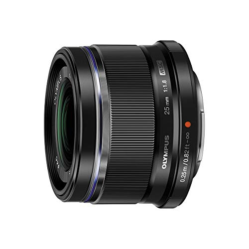 Olympus M.Zuiko Digital 25mm F1.8 Lens, for Micro Four Thirds Cameras (Black) (35mm F1 8 Vs 50mm F1 8)