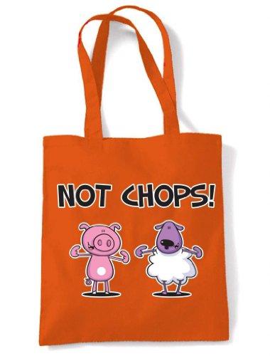 Tote Not Vegetarian Chops Shoulder Orange Chops Bag Vegetarian Not Shoulder Tote qpUFgfwn