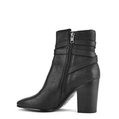 Ash Zapatos Kim Botines de Cuero Negro Mujer Negro