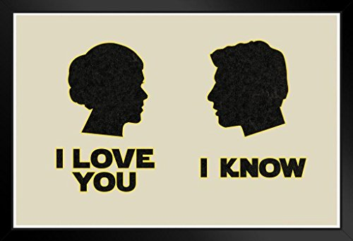ProFrames I Love You. I Know. Silhouettes Movie Framed Poster 12x18 (Princess Leia Quotes)