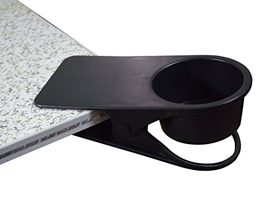 Home Office Table Desk Side Huge Clip Tea Coffee Wine Cup Holder Clip Teacup Drinking Cup Holder Mugs Clip Clamp ,Black
