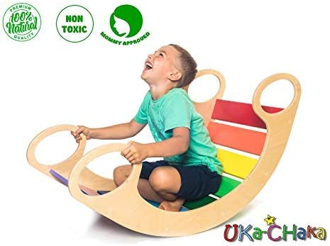 Wooden Rocking Play UKa-CHaka Child Rocking Bed Wooden Rocking Chair for Kids 5-12 Years Multi // BOM Maxi