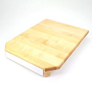 Tabla de madera de abedul con ruedas, para Thermomix, cinta magnética, antideslizante: Amazon.es: Hogar