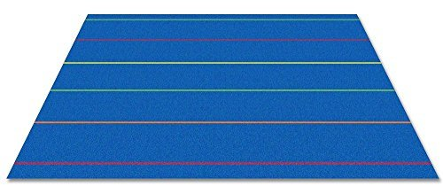 Kid Carpet FE817-34A Straight Lines Kids Nylon Area Rug 6' x 8'6 Multicolored [並行輸入品]   B07HLHQDWT