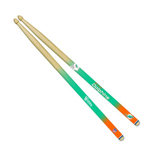 [NFL Miami Dolphins Drum Sticks,16-Inch,Tan] (Dolphin Percussion)