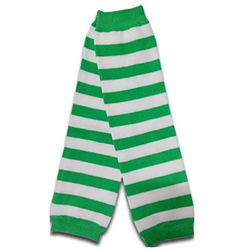 St. Patrick's Green White Striped Baby / Toddler Leg Warmers For Boy or Girl